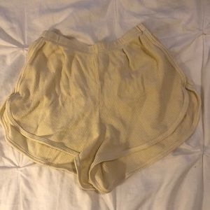 Yellow soft shorts from brandy Melville